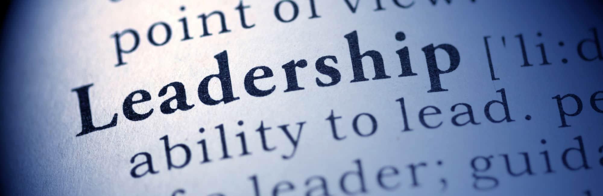 How do you define leadership?